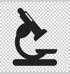microscope lab icon on isolated transparent vector image
