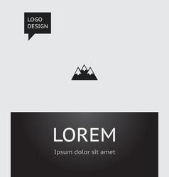 Of travel symbol on peak icon vector