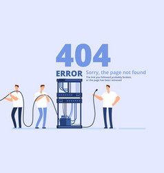 page 404 error concept sorry page not found web vector image