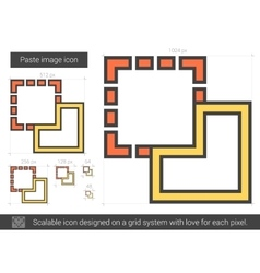 Paste image line icon vector image