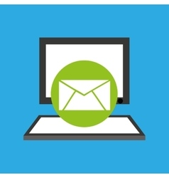 Pc device network envelope mail media icon vector