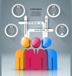 People icon business infographics vector
