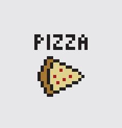 Pixel pizza vector image