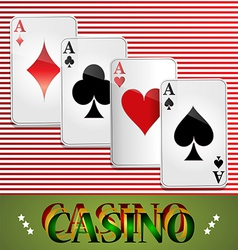 Poker Casino Cards Background Gambling the Symbol vector image