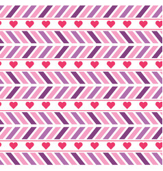 purple and pink chevron seamless pattern vector image