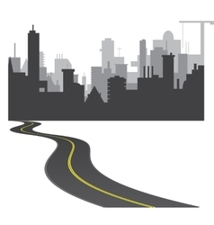 Road to town vector image