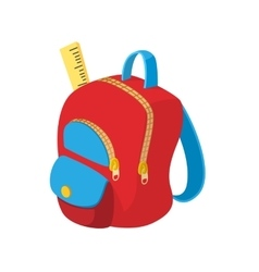 School bag icon cartoon style vector