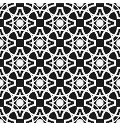 Seamless geometric pattern Monochrome endless vector image