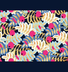 Seamless pattern rowan vector