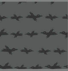 seamless pattern with dark grey sketch vector image