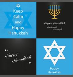 set background on day 4 happy hanukkah vector image