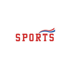 sport-logo-red vector image