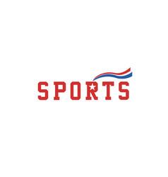 Sport-logo-red vector