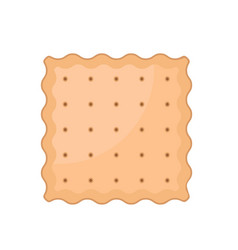 Square cracker biscuit icon flat style vector