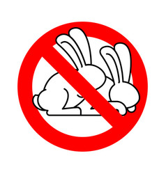 stop rabbit sex ban bunny hare intercourse red vector image