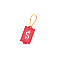 tag price market money flat image style vector image