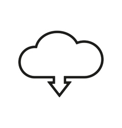 The download to cloud icon Download symbol Flat vector image