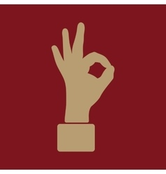 The OK icon Okay symbol Flat vector