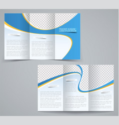 three fold business brochure template vector image