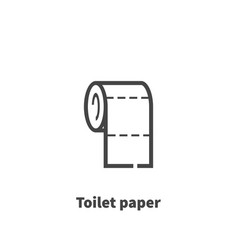 Toilet paper icon symbol vector