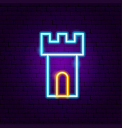 tower neon sign vector image
