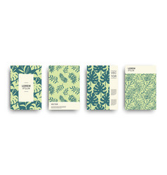 Tropic nature exotic covers set vector