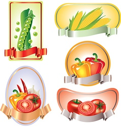 vegetables labels vector image