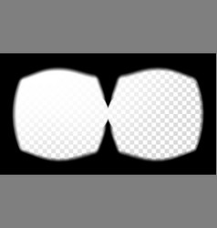 Virtual reality glasses sight view vector