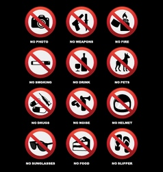 Warning signs for pub and restaurant vector