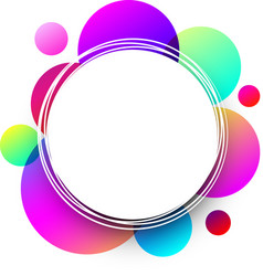 white round background with colorful circles vector image