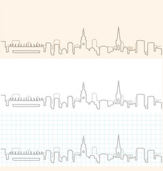 Zagreb hand drawn skyline vector