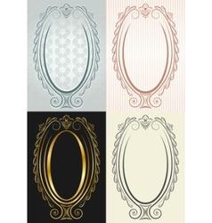 antique oval frame vector image