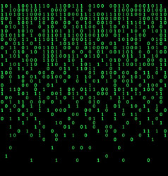 binary code green and dark background digits on vector image vector image