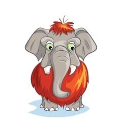 Cartoon image of a baby mammoth vector image