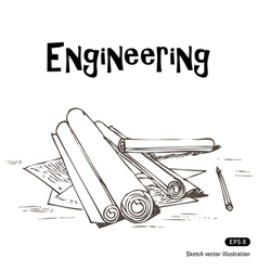 Engineering projects vector image
