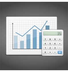 Graph with Calculator vector image