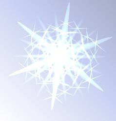 Light snowflake closeup vector image vector image
