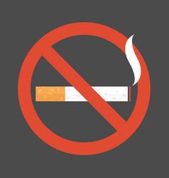 non smoking area sign symbol flat design vector image