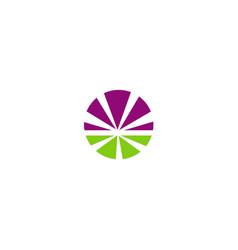 round shine colored shape logo vector image