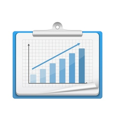 Clipboard with Bar Graph vector image