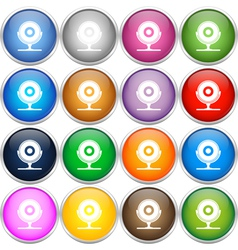 Colorful web cam icons vector image