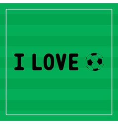 I Love football1 vector image
