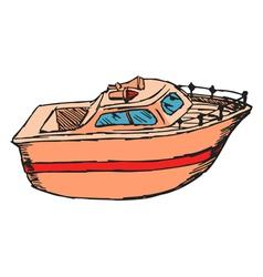 motor boat vector image