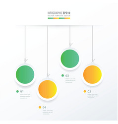circle hanging concept green yellow color vector image vector image