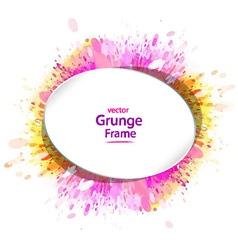 grunge frame retro vector image vector image