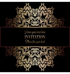 Invitation decorative golds 49 vector