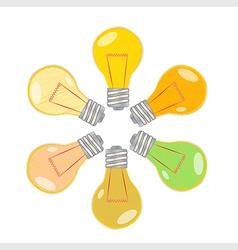 Light bulbs vector image vector image