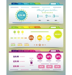 Price table set vector image