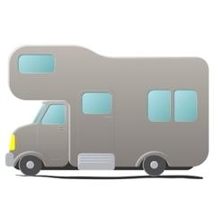 Cartoon camping van Caravan vector image