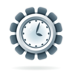 Creative clock icon vector image vector image